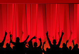 Fototapety audience &  red curtains
