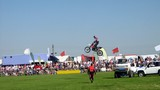 motocyclist in stunt riding show.sports.motorsport poster