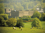 england derbyshire chatsworth house poster