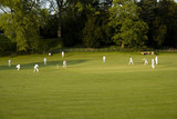 cricket match on a summer evening ashford in the w poster
