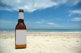 beer and beach (blank) poster