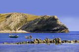 lulworth cove dorset coast england poster
