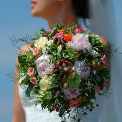 boquet and bride