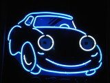neon car poster