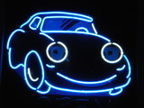 neon car sign poster