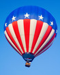 stars and stripes flying high