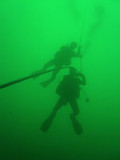 green water diving poster