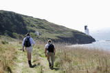 hikers on the south west way, cornwall poster