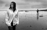 man and woman at the beach - Fine Art prints