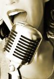 Fototapety retro singer