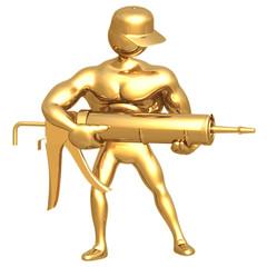 hold caulking gun