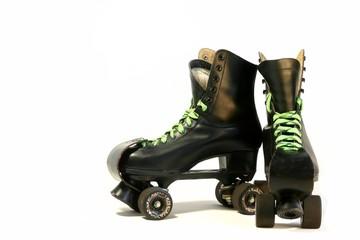 black rollerskates