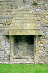 caernarfon castle fireplace in north wales