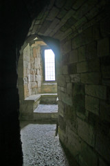 caernarfon castle window in north wales