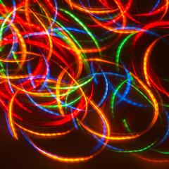 dancing neon disco lights