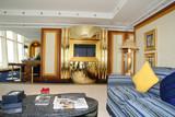 living room at burj al arab hotel, dubai poster