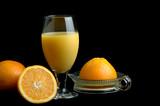 fresh squeezed orange juice poster