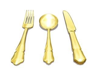 gold silverware
