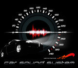 car sound and performance poster