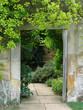 framed doorway in garden
