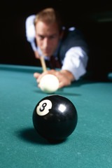 sinking the 8 ball to win