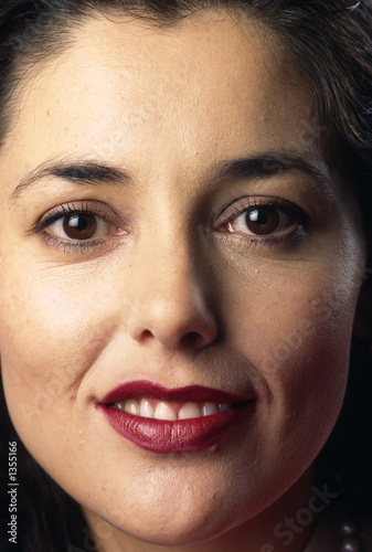 tight head shot of attractive business woman