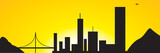 city scape sunset poster