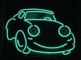 aqua neon car poster