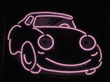 pale pink neon car poster