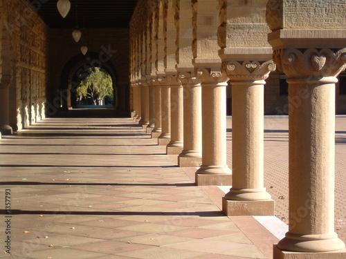 Leinwanddruck Bild walkway