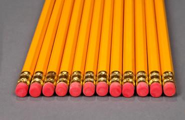 pencils alined together