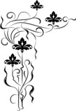 element for design, corner flower poster