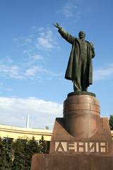sculpture of lenin in volgograd russia