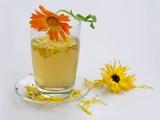 marigold petals tea poster