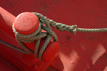 rope of boat moored