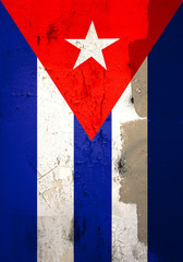 weathered cuban flag