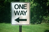 sign one way poster