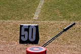 football 50 yard marker poster