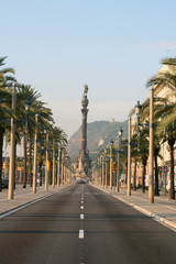 columbus boulevard in barcelona.