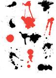 ink splats poster