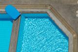 detail of swimming-pool poster