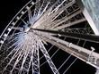 sky wheel at night