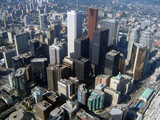 downtown toronto - aerial view