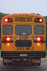 school bus brake lights