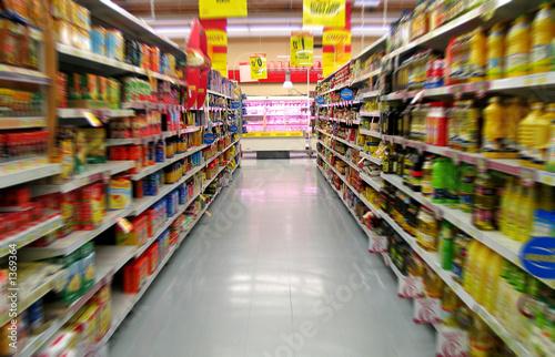 Leinwanddruck Bild supermarchés