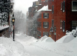 boston in snow-