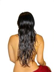 wet brunette