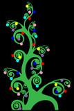 deco christmas tree poster
