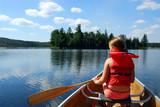 Fototapety child in canoe