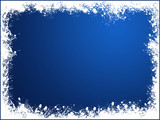 blue snow frame